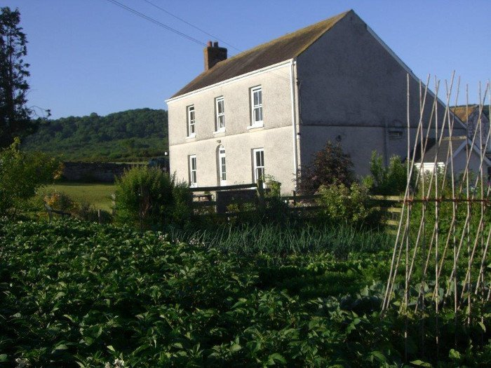 Glanyrynys Farmhouse & vegetable garden